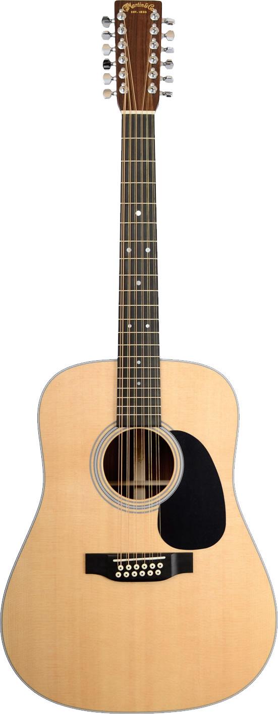 martin d12 28 12 string guitar with case. Black Bedroom Furniture Sets. Home Design Ideas