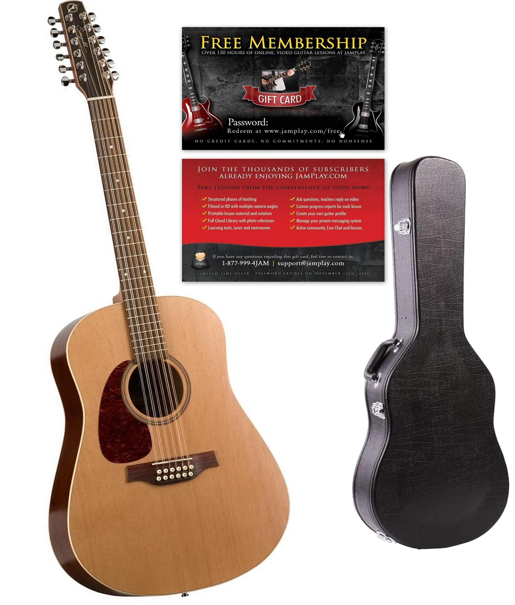 seagull coastline s12 12 string left handed acoustic guitar. Black Bedroom Furniture Sets. Home Design Ideas