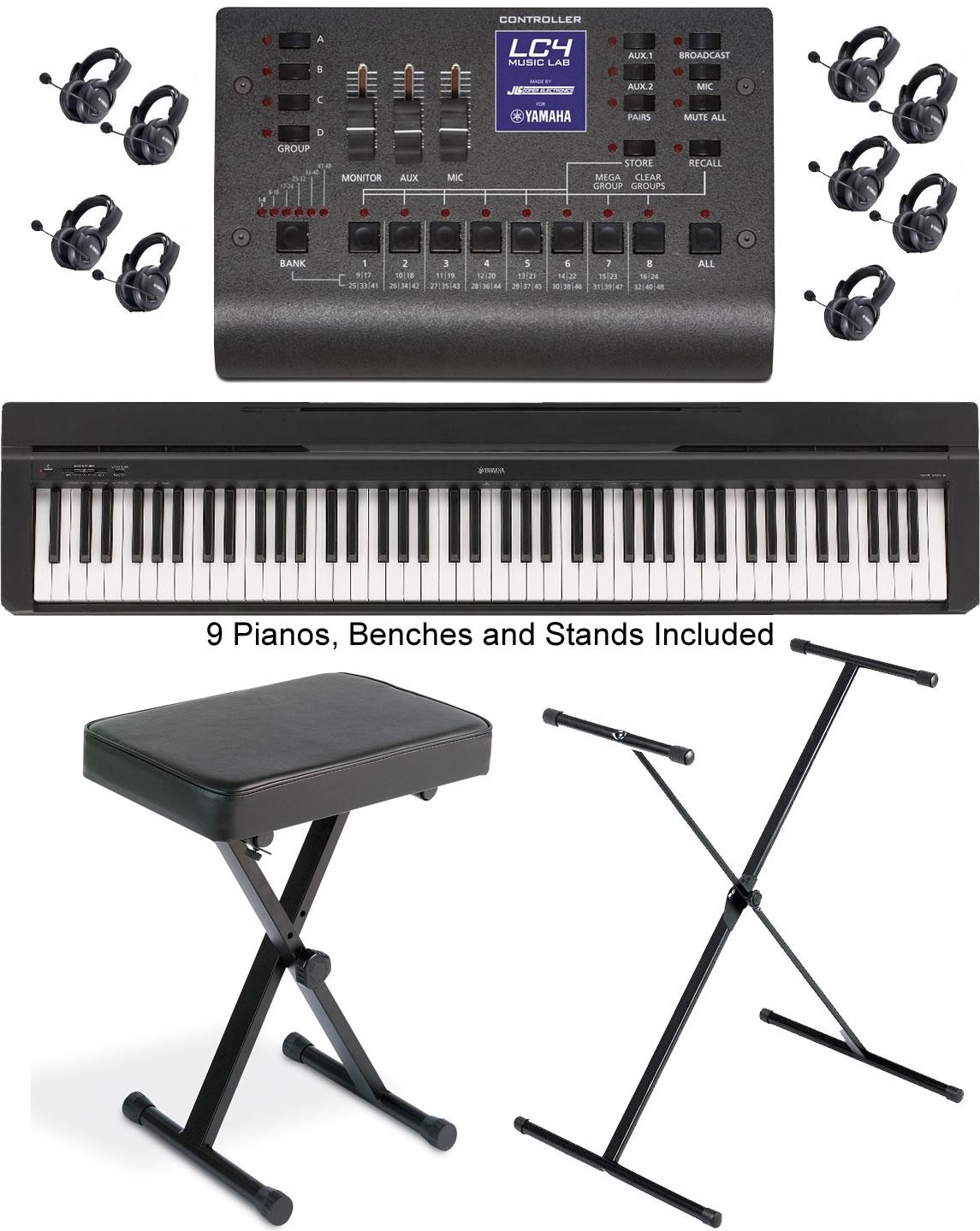 Yamaha lc4 basic music lab for 8 students and 1 teacher for Yamaha p45 keyboard