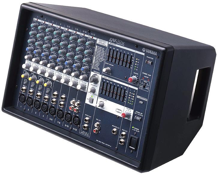 yamaha emx512sc powered mixer w free microphone