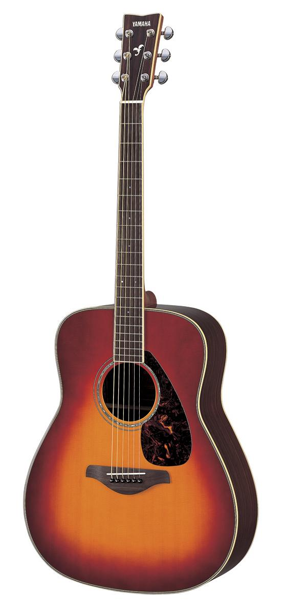Yamaha fg730s vcb solid top acoustic guitar vintage cherry for Yamaha fg700s dimensions