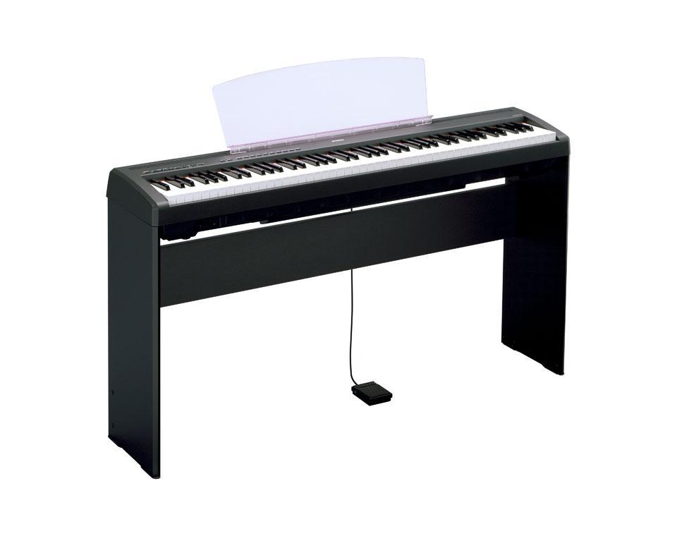 Yamaha p95s digital piano silver w stand headphones and for Yamaha p85 contemporary digital piano