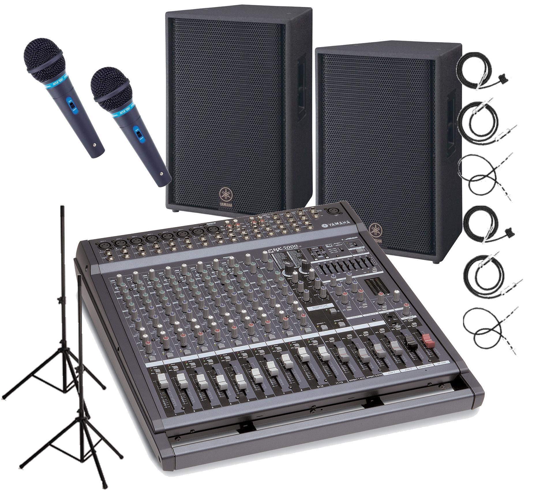 Yamaha emx5014c c115v package complete system w free for Yamaha sound system