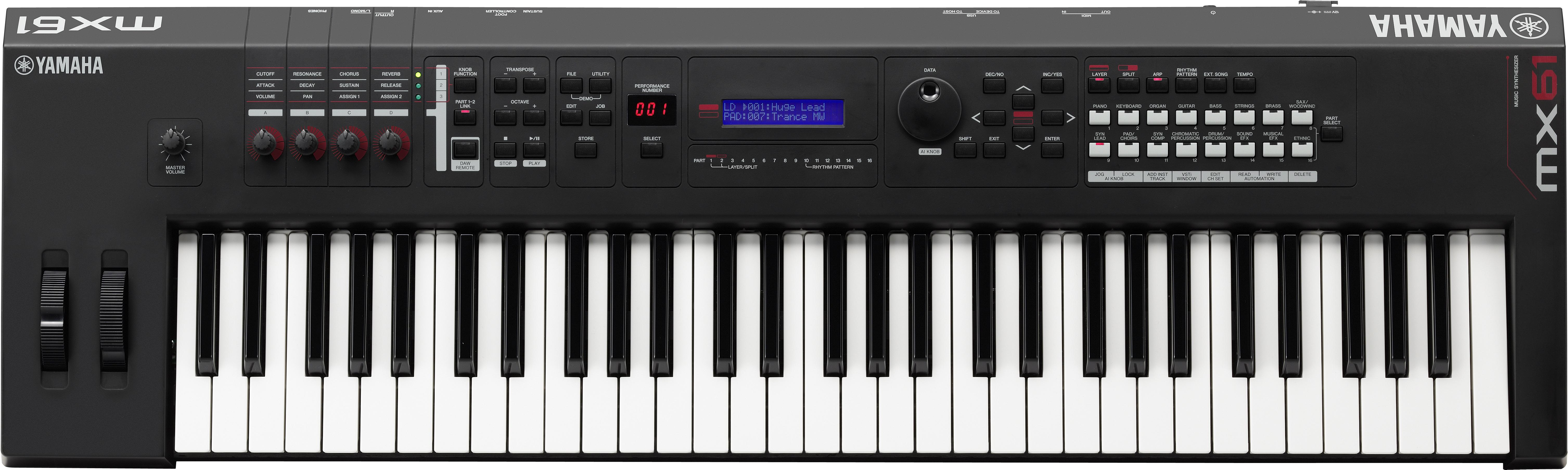 Yamaha Mx  Key Music Production Synthesizer Keyboard