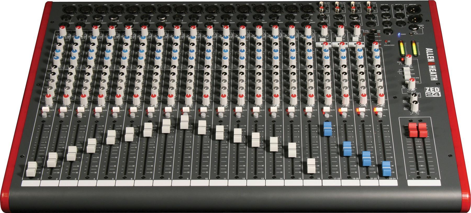 Allen heath zed 24 usb mixer - Table de mixage professionnelle studio ...