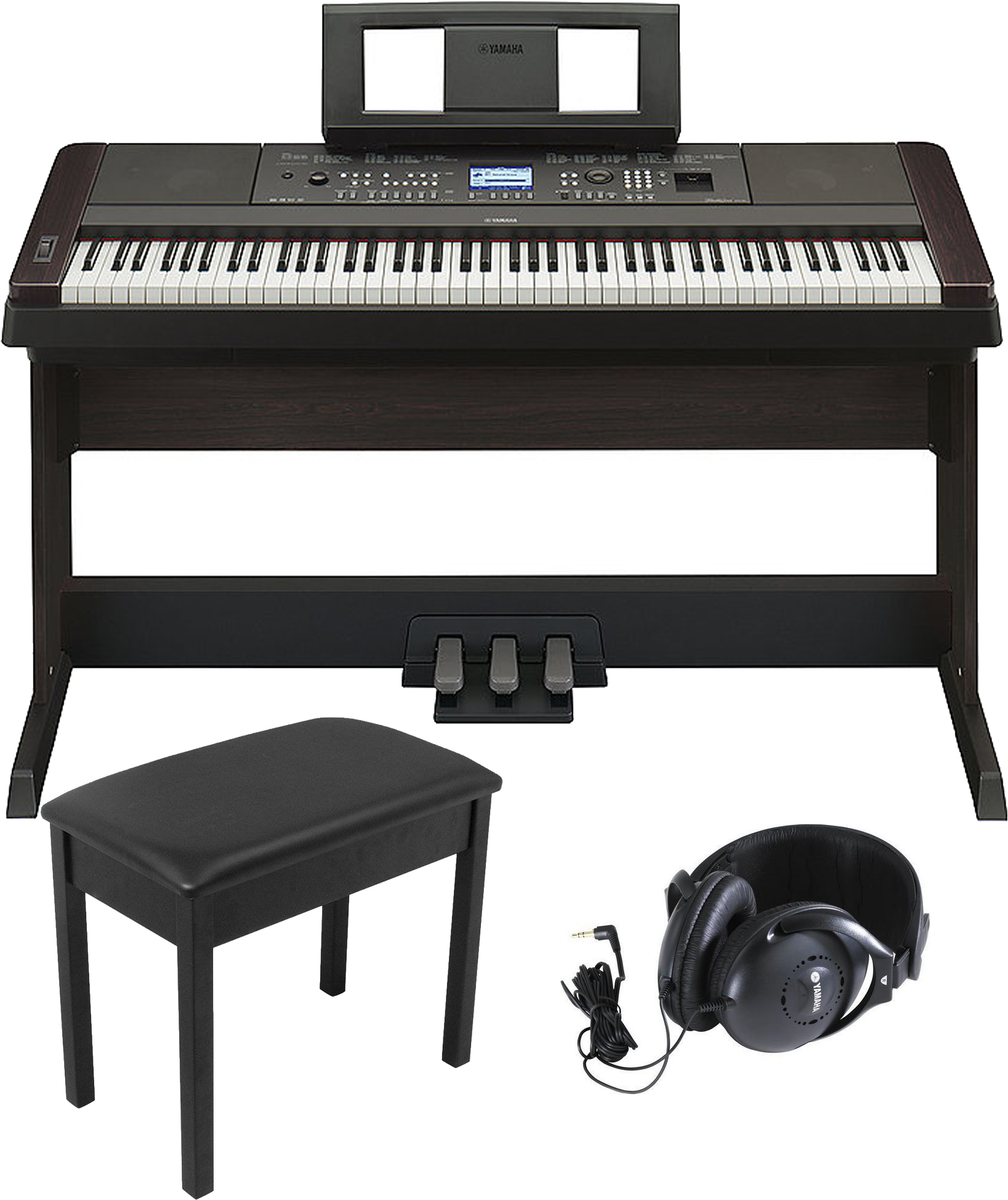 yamaha dgx650b portable grand piano bundle. Black Bedroom Furniture Sets. Home Design Ideas