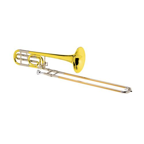 trombone with brass finish