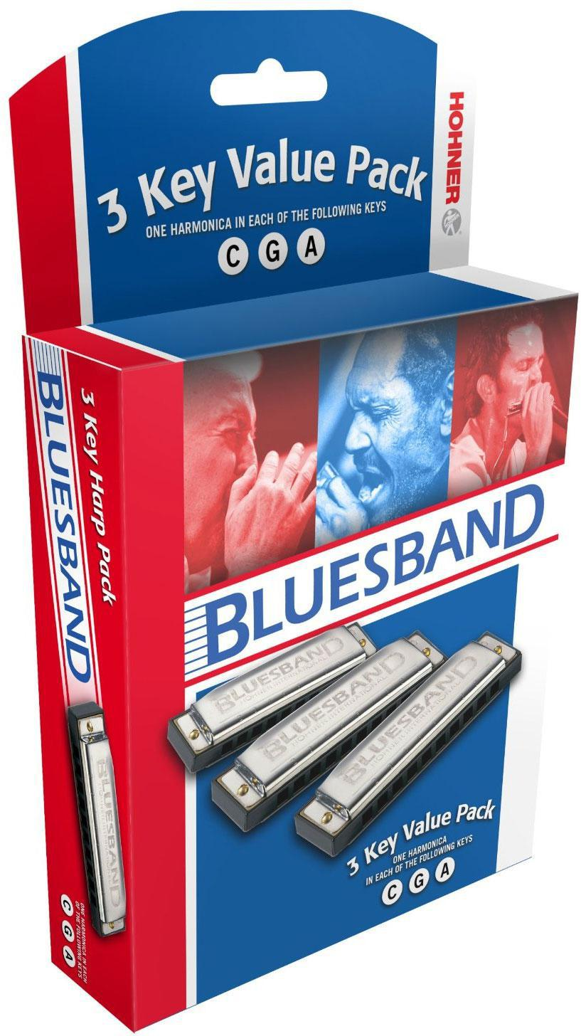 Hohner Blues Band Harmonica 3-Pack (C,G,A)