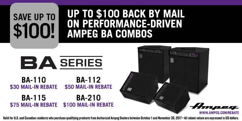 Ampeg BA series rebate